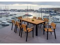 Zestaw mebli MOHITO - stół + 8 foteli MOHITO Aluminium Zawartość zestawu Fotele