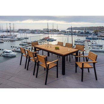Zestaw mebli MOHITO - stół + 8 foteli MOHITO
