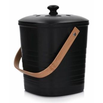 Kosz do kompostowania DUKA ORUST 18.3x19.2x25 cm czarny