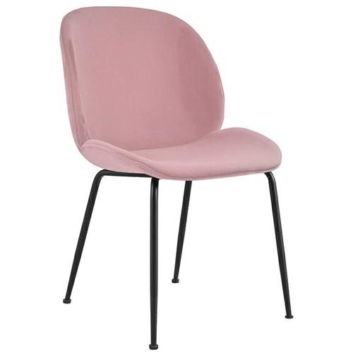 Wygodne krzesło jadalniane Scoop z wyprofilowanym siedziskiem welurowym