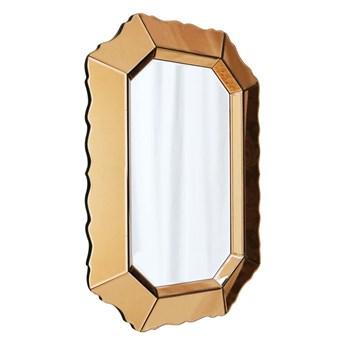 Lustro w złotej szklanej ramie  Mirano Glamour