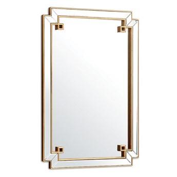 Lustro w złotej szklanej ramie  Livorn Glamour