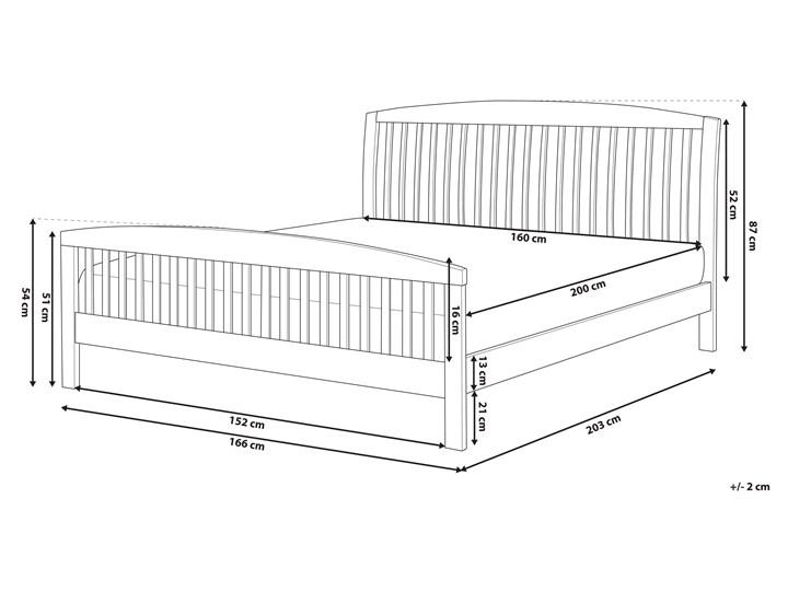 Łóżko ciemne drewniane 160 x 200 cm z ramą stelażem zagłówkiem i zanóżkiem Łóżko drewniane Kategoria Łóżka do sypialni Kolor Brązowy