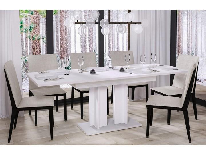 Stół Aurora rozkładany 130-210 biały połysk - Meb24.pl