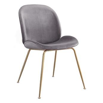 Krzesło Glamour S-0728 na złotych nogach, jasny szary #20