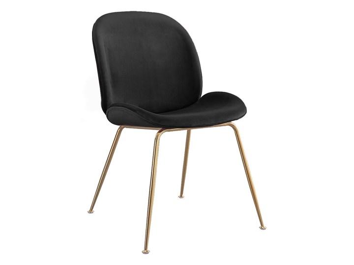 Krzesło ze złotymi nóżkami S-0728 Czarny #66 Styl Nowoczesny Tkanina Metal Tapicerowane Tworzywo sztuczne Kategoria Krzesła kuchenne