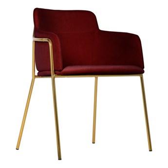Krzesło Korfu Gold bordowe/złote nogi