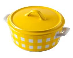 Forma do pieczenia z pokrywką 15cm w kratę żółta