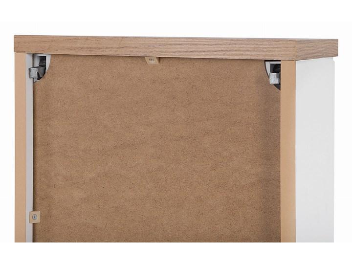 Lustrzana szafka wisząca do łazienki 80 cm biała Z lustrem Płyta MDF Głębokość 20 cm Drewno Szafki Wiszące Wysokość 70 cm Kategoria Szafki stojące