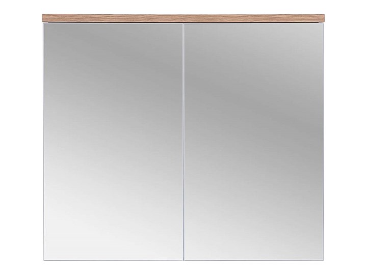 Lustrzana szafka wisząca do łazienki 80 cm biała