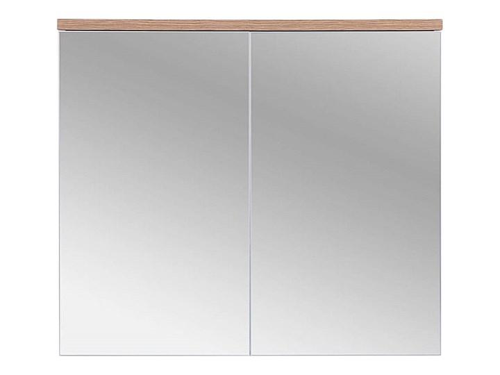 Lustrzana szafka wisząca do łazienki 80 cm biała Płyta MDF Głębokość 20 cm Wysokość 70 cm Z lustrem Wiszące Kategoria Szafki stojące Drewno Szafki Rodzaj frontu Drzwiczki