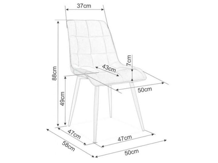 Krzesło CHIC VELVET Curry Signal Z podłokietnikiem Głębokość 58 cm Welur Pomieszczenie Jadalnia Tkanina Pikowane Wysokość 88 cm Stal Tapicerowane Szerokość 50 cm Metal Styl Glamour