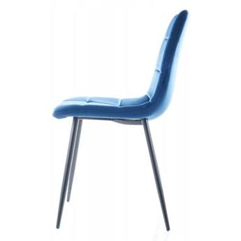 Krzesło MILA VELVET Granatowy Signal