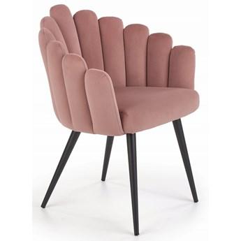 Krzesło K410 Róż Velvet Halmar