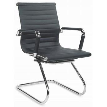 Krzesło PRESTIGE SKID Czarny Halmar
