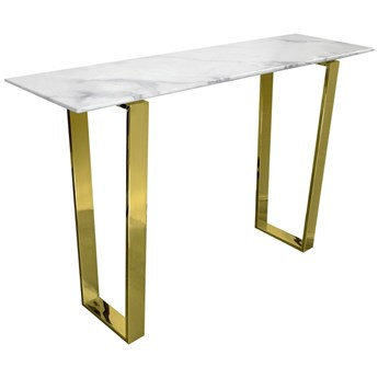 Konsola MADERA GLAMUR Marmur Gold