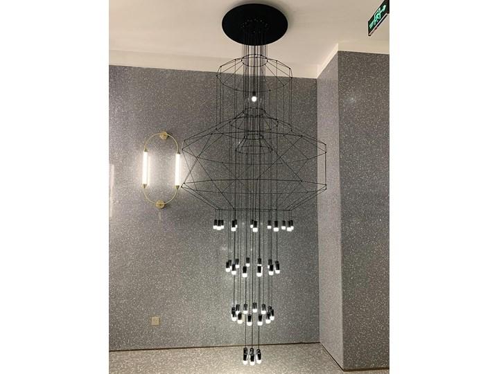 Lampa wisząca FLUSSO 43 GRANDE czarna Lampa z kloszem Stal Lampa LED Szkło Ilość źródeł światła 43 źródła Metal Kolor Czarny