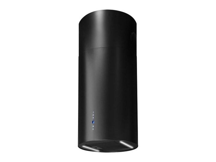 Okap wyspowy Cylindro 2STRIPS Black Matt 40 cm Sterowanie Elektroniczne