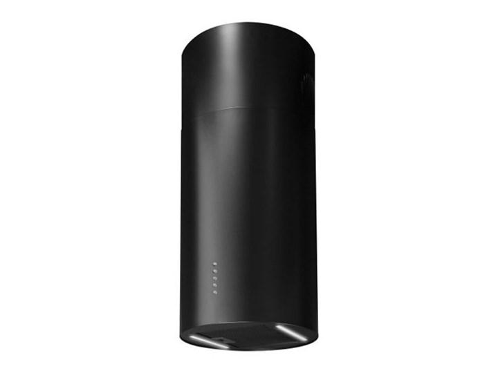 Okap wyspowy Cylindro Eco 2STRIPS Black Matt 40 cm Sterowanie Elektroniczne