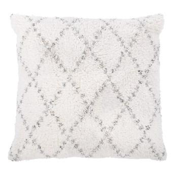 Biało-szara bawełniana poduszka dekoracyjna Tiseco Home Studio Geometric,45x45 cm