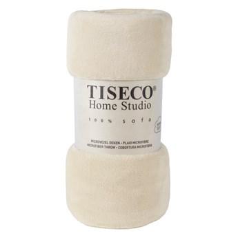 Beżowy koc z mikropluszu Tiseco Home Studio, 220x240 cm