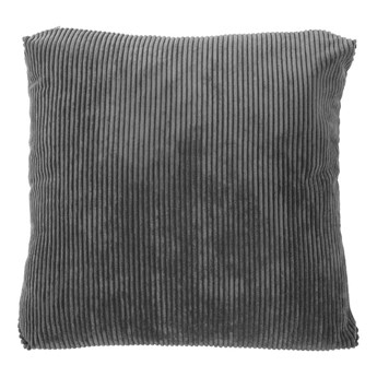 Ciemnoszara poduszka dekoracyjna Tiseco Home Studio Ribbed,60x60cm