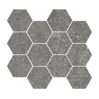 Lithops Grey Natural Mosaico Hexagonal 28x30 mozaika