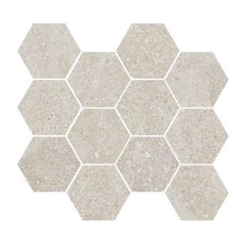 Lithops Ivory Natural Mosaico Hexagonal 28x30 mozaika