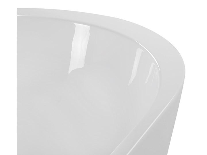 Wanna wolnostojąca biała akrylowa 160 x 75 cm system przelewowy owalna retro Wolnostojące Kolor Biały