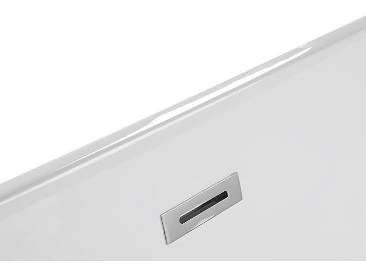 Wanna wolnostojąca biała akrylowa 160 x 75 cm system przelewowy owalna retro Kolor Biały Wolnostojące Kategoria Wanny