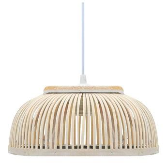 Biała lampa wisząca z drewna wierzbowego - EX219-Breva