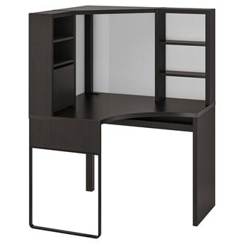 IKEA MICKE Biurko narożne, Czarnobrąz, 100x142 cm
