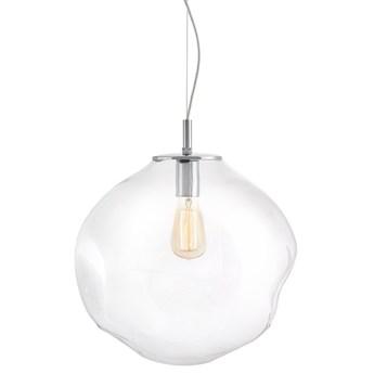 AVIA L lampa wisząca 1 X 25W LED E27 transparent / chrom SZKLANY ZWIS nowoczesna DESIGNERSKA FORMA szkło KASPA 10413109