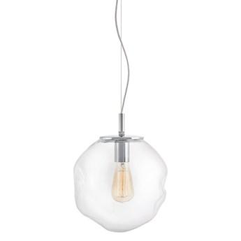 AVIA M lampa wisząca 1 X 25W LED E27 transparent / chrom SZKLANY ZWIS nowoczesna lampa DESIGNERSKA FORMA  KASPA 10412109