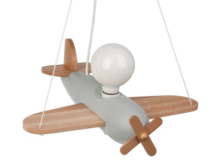 CLIPPER lampa wisząca pojedyncza 1 x 60W E27 kolorowa dziecięca drewno HELLUX 104.23.40