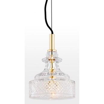CRUZ lampa wisząca 1 x 7W E14 kryształowa elegancka mosiądz szklana retro glamour ARGON 4198