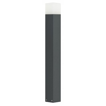 CUBE lampa stojąca 1 x 20W E27 CLF nowoczesny słupek ogrodowy zewnętrzny prosty design SUMA CB-830 DG