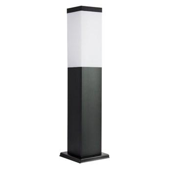 INOX BLACK lampa stojąca 1 x 40W E27 słupek ogrodowy metalowy czarny nowoczesny design SUMA SS802-450 BL