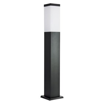 INOX BLACK lampa stojąca 1 x 40W E27 słupek ogrodowy metalowy czarny nowoczesny design SUMA SS802-650 BL