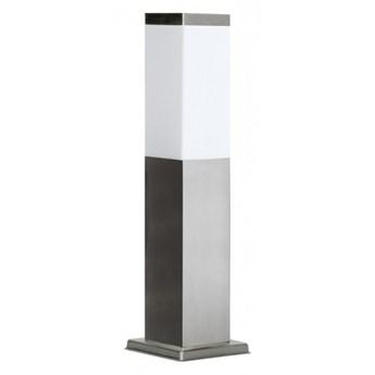 INOX lampa stojąca 1 x 40W E27 słupek ogrodowy metalowy srebrny nowoczesny design SUMA SS802-450