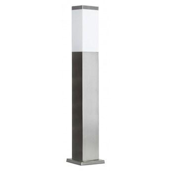 INOX lampa stojąca 1 x 40W E27 słupek ogrodowy metalowy srebrny nowoczesny design SUMA SS802-650