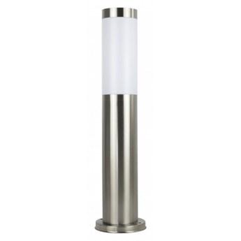 INOX lampa stojąca 1 x 40W E27 słupek ogrodowy metalowy srebrny nowoczesny design SUMA ST 022-450