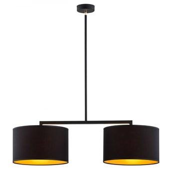 KARIN lampa wisząca 2 x 15W E27 nowoczesna złota glamour abażur ARGON 899
