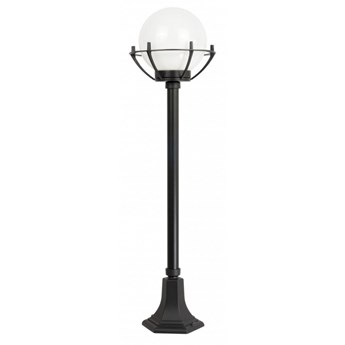 KULA BASKET lampa stojąca 1 x 60W E27  słupek ogrodowy stylowy kula biała ball SUMA K 5002/2/KPO (102 cm)