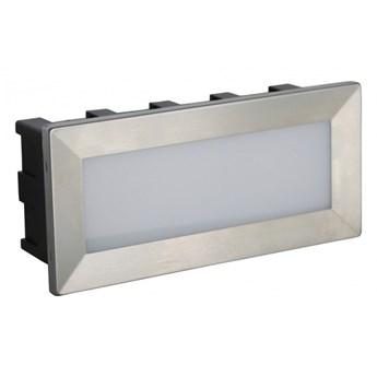 MUR LED kinkiet oprawa wpuszczana 1 x 3,5W LED metalowy  zewnętrzny lampa ścienna elewacyjna na balkon taras SUMA C 04