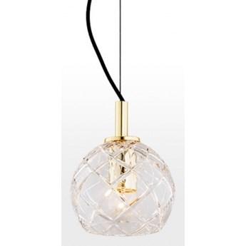 OVIEDO lampa wisząca 1 x 15W  E27 kryształowa elegancka mosiądz szklana retro kula ARGON 4200