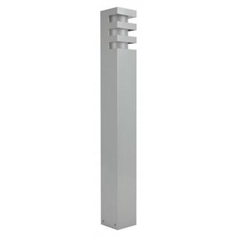 RADO lampa stojąca 1 x 18W E27 CLF słupek ogrodowy nowoczesny metalowy srebrny SUMA RADO 1 AL