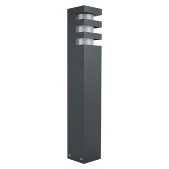 RADO lampa stojąca 1 x 18W E27 CLF słupek ogrodowy nowoczesny metalowy szary SUMA RADO 2 DG