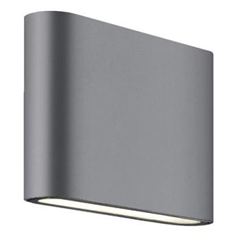 SAPRI ANTRACYT kinkiet ścienny 2 x 3W  LED antracyt minimalistyczny nowoczesny zewnętrzny IP54 Light Prestige LP-1556/1W ANTR
