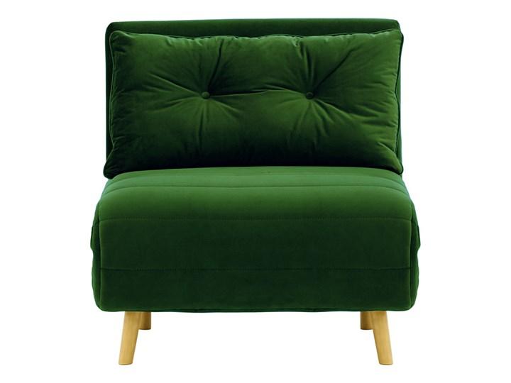 Fotel rozkładany Flic 77 cm Styl Vintage Drewno Tkanina Wysokość 78 cm Głębokość 90 cm Kategoria Fotele do salonu